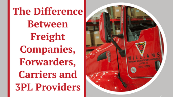 The Difference Between Freight Companies, Forwarders, Carriers and 3PL Providers