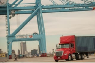 Truck from BR Williams used for Intermodal Trucking in US