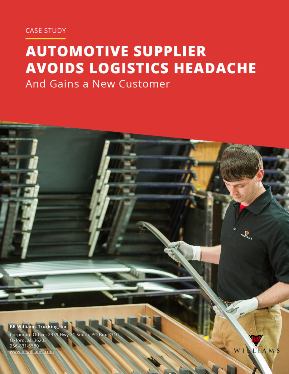 Automotive Supplier Avoids Logistics Headache Case Study Cover