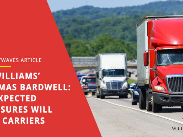 BR Williams' Thomas Bardwell: Unexpected pressures will test carriers
