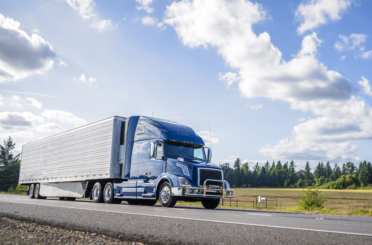 Freight Brokerage Logistics Truck on the Road for Transportation
