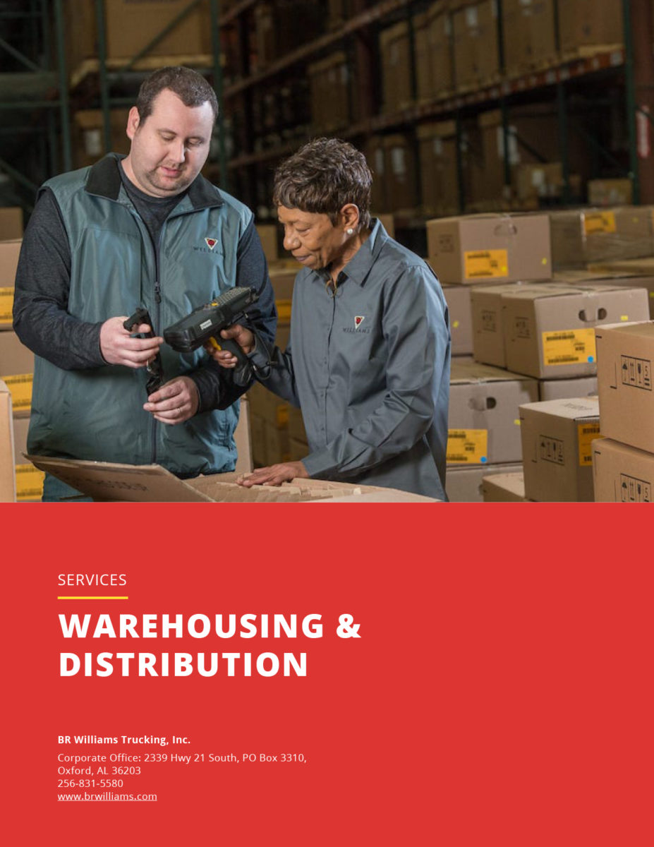 Warehousing and Distribution Flyer Cover
