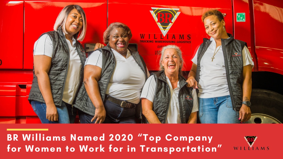 "BR Williams Named 2020 ""Top Company for Women to Work for in Transportation"""