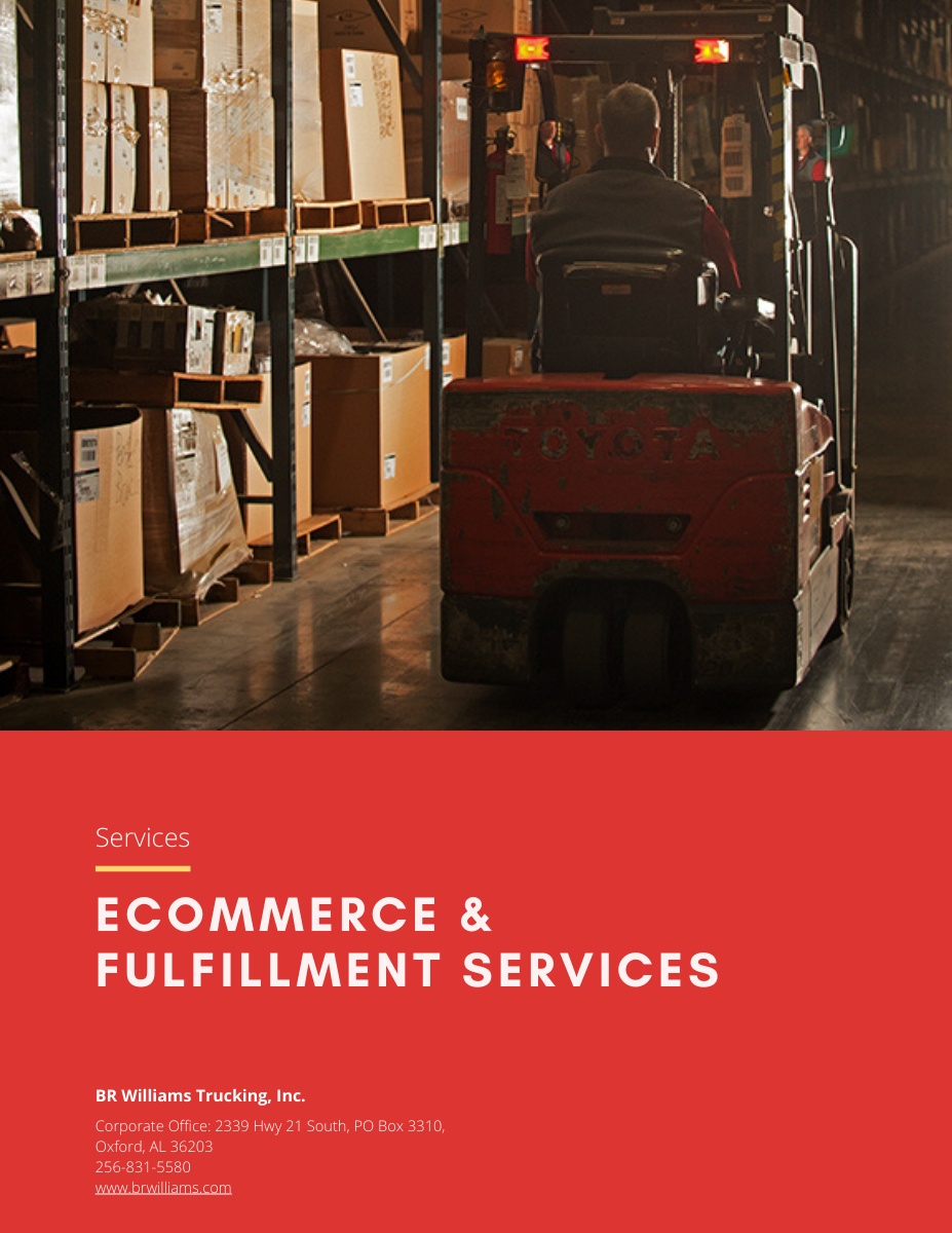 BR Williams eCommerce & Fulfillment Services Flyer