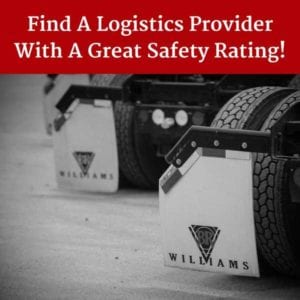 Find a Logistic Provider with a Great Safety Rating