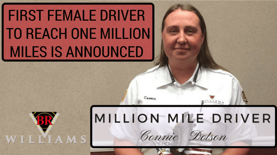 First Female Driver at BR Williams Reaches One Million Miles | Trucking