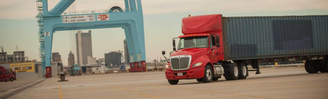 Intermodal Trucking at the Port of Mobile in Alabama