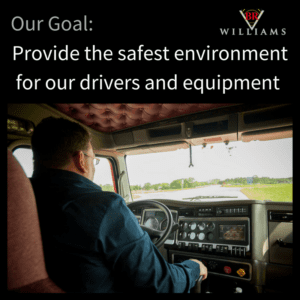 Provide the safest environment for our drivers and equipment | Best Trucking Companies | BR Williams