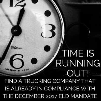 Time Is Running Out | EDL Compliance | BR Williams Trucking Companies